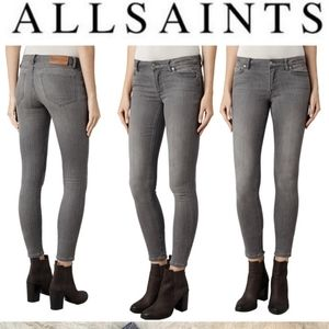 All Saints mast fit skinny jeans NWOT